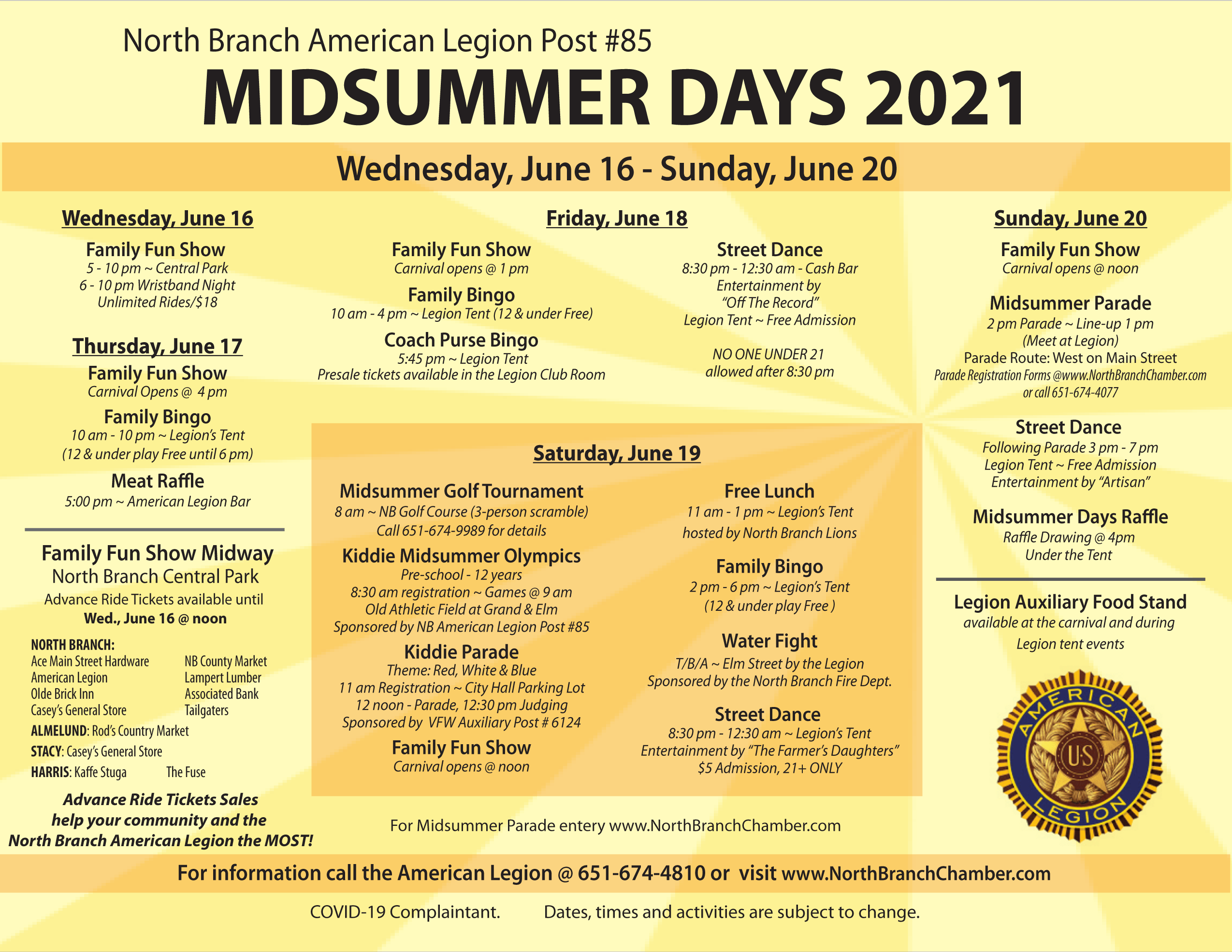 Check out everything you can do at Midsummer Days 2021